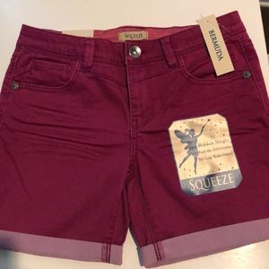 Girls SQUEEZE pink bermuda jean shorts NWT